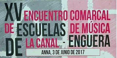 Encuentro comarcal de escuelas de música- Anna 2017